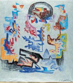 Civitanova Marche: Pinacoteca Moretti - Ossip Zadkine, Opera Senza titolo 1966 #ndm13 #nottedeimusei