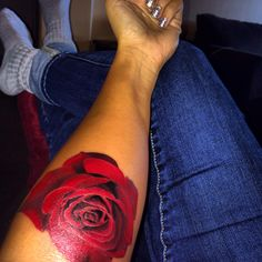 I love my rose tattoo.
