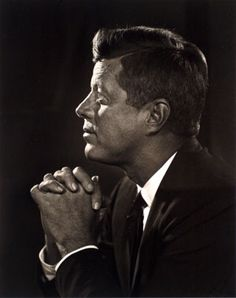 I think my biggest life Hero.  JFK, photographed by Yusuf Karsh