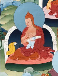 Haribhadra (Tib. སེང་གེ་བཟང་པོ་, Senge Zangpo) (late 8th C.) was a great pandita and master of the prajnaparamita teachings.  #ColoringForMeditation #TibetanArt #TibetanColoring #Thangka #BuddhistArt #BuddhistColoring