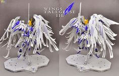 MODELER: .cuE  MODEL TITLE:  Wings Tallgeese III  MODIFICATION TYPE:  kit bash, custom color scheme, scratch built parts, custom decals  KIT...