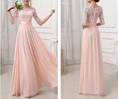 Fashion lace stitching chiffon dress SF112912JL