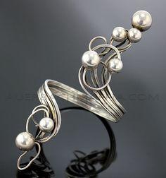 Bracelet   Rachel Gera. Sterling silver.  Pre 1970s