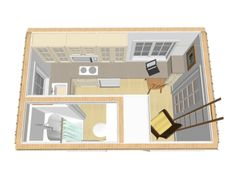 Alan Reid has designed a 8×12 tiny houseaspart of our 2015 8×12 tiny house design contest. He calls this design The Lookout. The total height of this tiny house without foundation is 13 ft. …