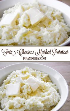 Feta Cheese Mashed Potatoes | Feta is such a delicious to this famous, creamy side dish!