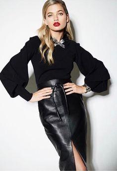13461c02be Pvc Skirt, Midi Skirt, Waist Skirt, Black Leather Skirts, Leather Dresses,