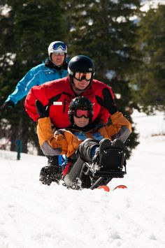 Adaptive sports lessons are available