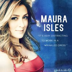 Rizzoli&Isles Page Liked · August 7 ·    Five seasons later and Maura still looks fabulous at work. #TBT #RizzoliandIsles #MauraIsles