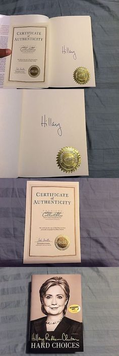 Hillary Clinton: Hillary Clinton Hard Choices Autographed 1St Edition Xx Of 1000 Leather Box BUY IT NOW ONLY: $49.99