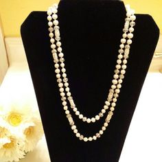 """Fresh Water pearl necklace 21"""" Fresh Water Pearl & Crystal necklace Linda's Jewelry Jewelry Necklaces"""