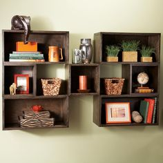 DIY Box Shelves - Several examples of bookshelves from Family handyman