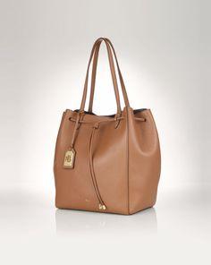 54c7c133a1 Oxford Leather Tote - Lauren New Arrivals - RalphLauren.com