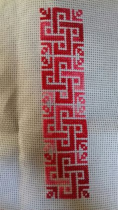 Discover thousands of images about palestinian embroidery Cross Stitch Geometric, Cross Stitch Borders, Cross Stitch Flowers, Cross Stitch Designs, Cross Stitching, Cross Stitch Embroidery, Cross Stitch Patterns, Hand Embroidery Patterns, Embroidery Designs
