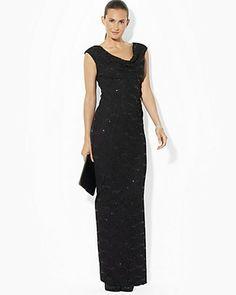 Ralph Lauren lace & sequin gown in Navy....my dress!!!
