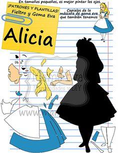 http://manualidadesamigas.foroargentina.net/ Alicia en el país de las maravillas (molde eva plana)