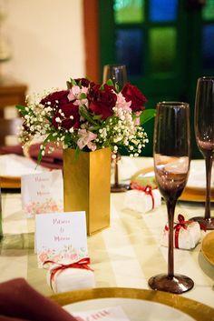 Decoração de Casamento DIY Marsala e Dourado | Blog de Casamento DIY da Maria Fernanda