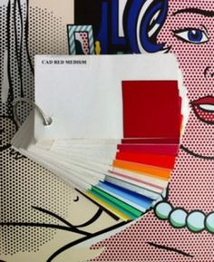 metamerism and Lichtenstein. AIC's account on joys of color matching Roy Lichtenstein Art, Local Museums, Art Institute Of Chicago, Chicago Art, Chicago Illinois, Swatch, Stuff To Do, Things To Come, Colours