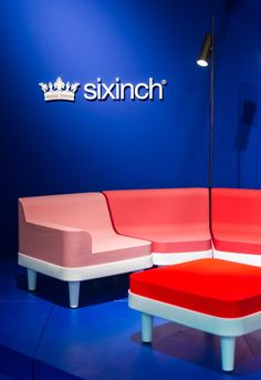 Our Sixinch booth at The Biennale Interieur in Kortrijk Modular Furniture, Layout, Chair, Creative, Interior, Colorful, Design, Home Decor, Style