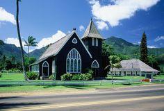 pictures of Kauai - Hanalei church