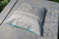 Poszewka na poduszkę lniano- bawełniana 41 x 41 cm
