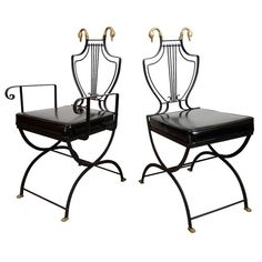 Mid Century Set of Eight Chairs by Maison Jansen