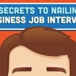 infographic : 21 Secrets to Nailing a Business Job Interview