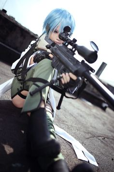 Sword Art Online/Gun Gale Online Sinon (シノン) by Angie0_0 on Cure WorldCosplay