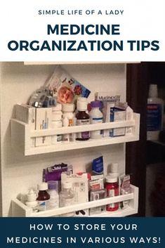 ideas for storing medicine Medicine Cabinet Organization, Medicine Storage, Organize Medicine, Door Storage, Storage Rack, Storage Ideas, Bedroom Organization Diy, Organization Hacks, Pull Down Spice Rack