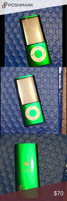 iPod Nano 5th (gen) Green 8gb Awesome iPod Nano fully equipped with camera, as well as radio, on top of all the music you can download onto it! Flawless condition not one scratch practically brand new! $120 refurbished at walmart, $150 brand new at Walmart! Can't beat this deal! apple Other