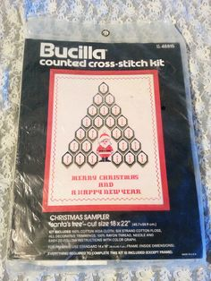 COUNTED CROSS STITCH CHRISTMAS TREE SAMPLER BUCILLA 48815 EMBROIDERY #BUCILLA