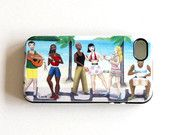 Brazilian party illustration cell phone cover Soft TPU Gel Silicone case for iPhone 4 / 4s great as a party lover gift for dancers teenagers