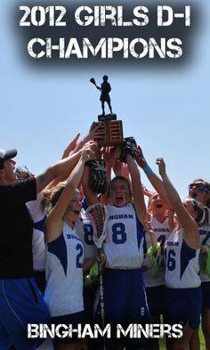 2012 Girls D-I Champions - Bingham Miners