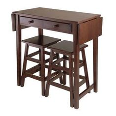 Winsome Wood 49 3/4-in L x 18 1/2-in W x 33 7/8-in H Cappuccino Kitchen Island