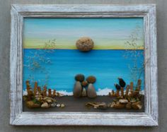 Pebble Art Rock Art Pebble Art Couple Rock Art di CrawfordBunch