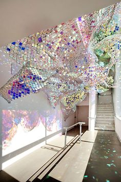 Gorgeous piece of upcycling - the refracted light on the wall's beautiful!