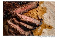 Garlic Tabasco London Broil! Perfect for grilling at a backyard barbecue or tailgate!