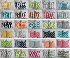 Pillows  20x20 Pillow Set  Pick You Set of by skoopehome on Etsy, $40.00