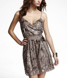 absolutely love this dress, and anything taupe/with sequin detail for that matter...