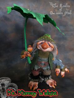 Forest Creatures - Mr.Murray Walnut . Art Doll. (Poseable) Art Doll. Troll, Faerie, Fae, Pixie, Brownie, Goblin, Ooak , Art Doll, One of a Kind, Fantasy, Sculpture, Wendy Froud, Brian Froud, Froud.