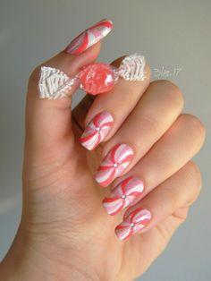 Candy Cane #nail art