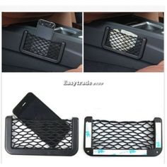 Universal Car Seat Side Back Storage Net Bag Phone Holder Pocket Organizer Black | eBay