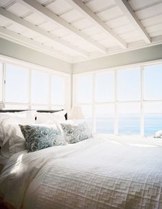 This is a Bedroom Interior Design Ideas. House is a private bedroom and is usually hidden from our guests. However, it is important to her, not only for comfort but also style. Much of our bedroom … Dream Bedroom, Home Bedroom, Master Bedroom, Seaside Bedroom, Cottage Bedrooms, Costal Bedroom, Serene Bedroom, Bedroom Corner, Upstairs Bedroom