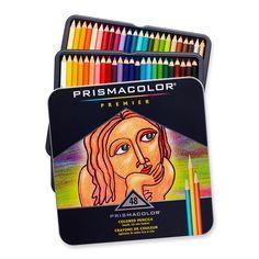 Prismacolor Premier Colored Pencil Set 48/Tin-W/Two Bonus Artstix