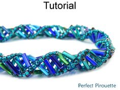 Perfect Pirouette Tubular Dutch Spiral Stitch Bugle Bracelet Necklace Beading Pattern Tutorial | Simple Bead Patterns