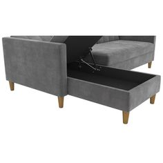 Hephzibah Reversible Sleeper Sectional & Reviews | Birch Lane Sleeper Sectional, Reclining Sectional, Chaise Sofa, Living Room Sets, Living Room Modern, Living Room Furniture, Grey Couches, Queen Size Bedding, Sofa Set