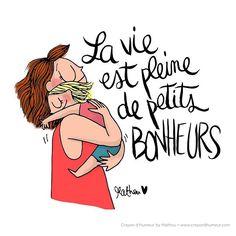 { LES PETITS BONHEURS }  D'accord ou pas d'accord ? (et un autre inédit, un ^^) Bonne journée !  #Mathou #crayondhumeur #kiff #dessindujour