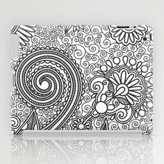 Floral B&W iPad Case - FREE Shipping on studio VII's products thru November 17, 2013, worldwide!! PROMO LINK: http://society6.com/vivinicolin?promo=671bda