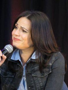 Actress Lana Parrilla attends the StoryBrooke UK Convention April 23rd 2016.
