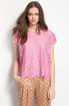 Lace top by Robert Rodriguez