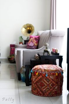 india-inspired seating area